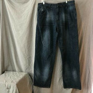 Vintage Jordan Mens Black Straight Jeans 38 W 34 L